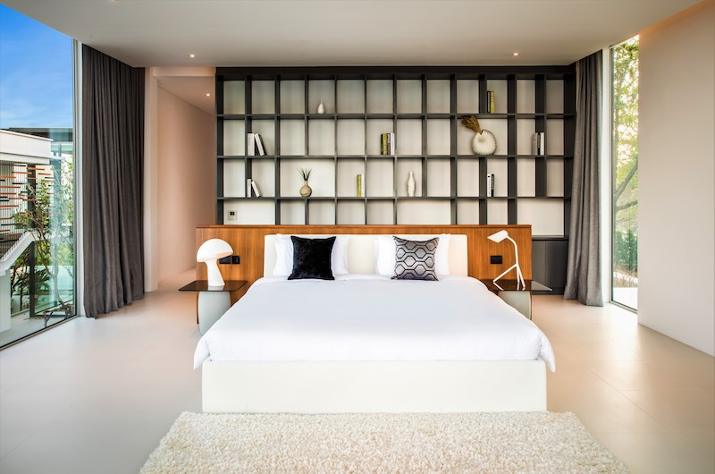 Villa Assava Bedroom One with Lamps | Cape Yamu, Phuket