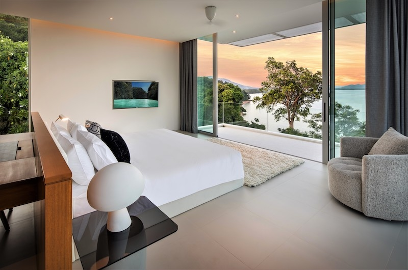 Villa Assava Bedroom One with Seating | Cape Yamu, Phuket