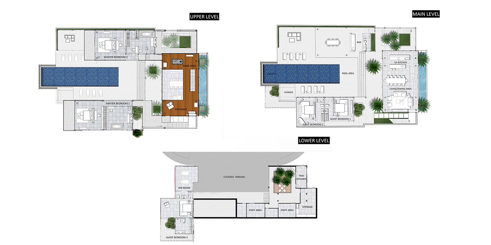 Villa Assava Floor Plan | Cape Yamu, Phuket