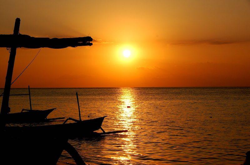 Bali Candidasa Boat Sunset