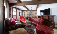 Chalet Hakuba Seating Area with TV | Hakuba, Nagano