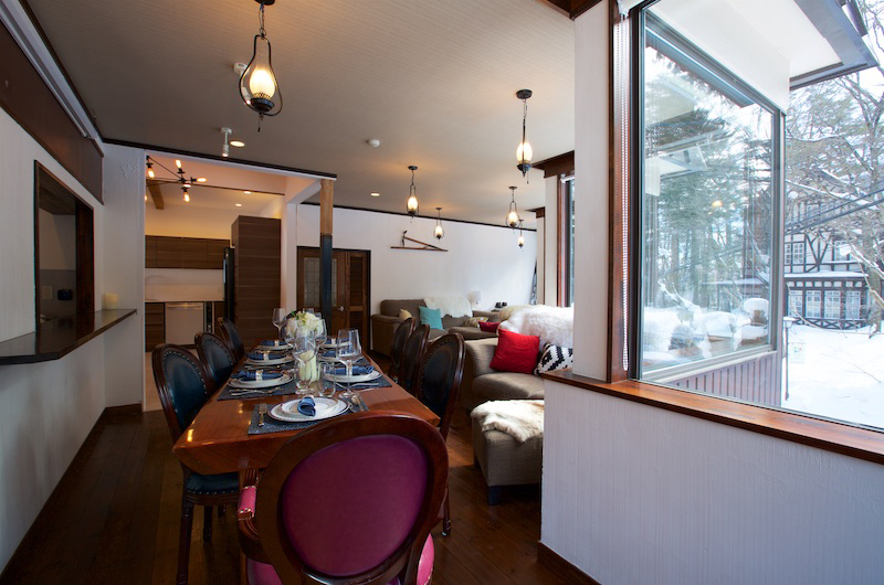 Chalet Hakuba Dining Table | Hakuba, Nagano