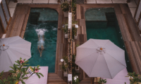 Samsara Villas Pool Area Bird's Eye View Two | Gili Air, Lombok