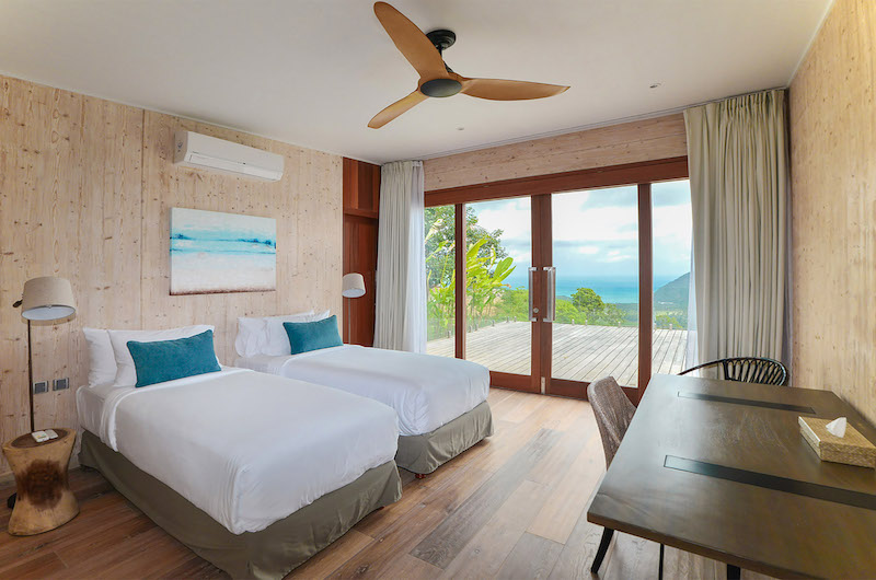 Selong Selo Villas Two Bedroom Villas Twin Bedroom Area | Lombok, Indonesia