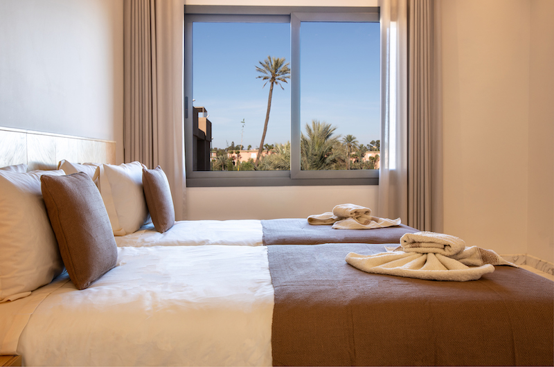 Villa Arteo Twin Bedroom with Views | Marrakesh, Morocco