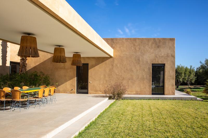 Villa Belya Outdoor Dining Area   Marrakesh, Morocco