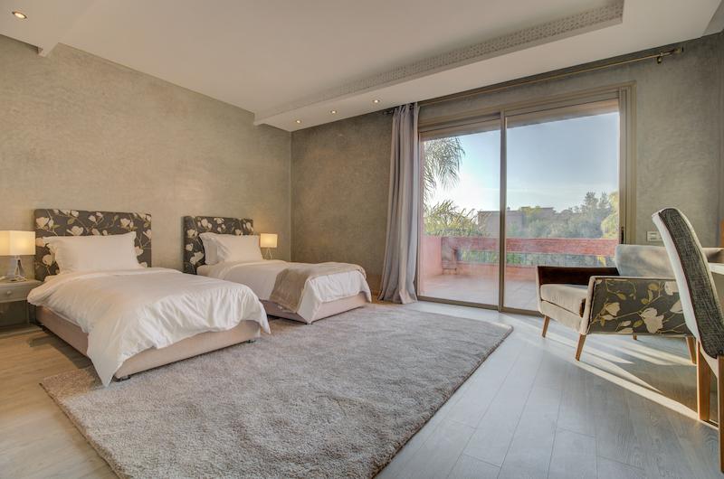 Villa Chamly 4 Twin Bedroom with Seating | Marrakesh, Morocco