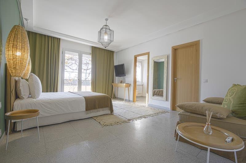 Villa Fima Bedroom Area with Seating | Marrakesh, Morocco