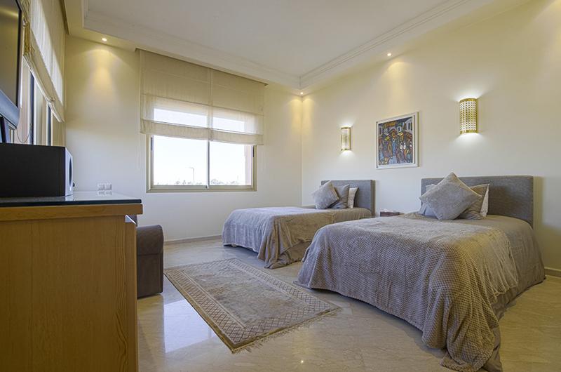 Villa Milado Twin Bedroom Area | Marrakesh, Morocco