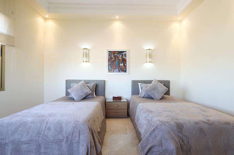 Villa Milado Twin Bedroom | Marrakesh, Morocco