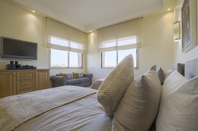 Villa Milado Bedroom with TV | Marrakesh, Morocco