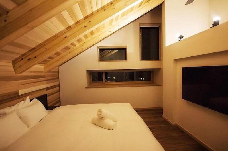 Asagiri Chalet Bedroom with TV | Hakuba, Nagano