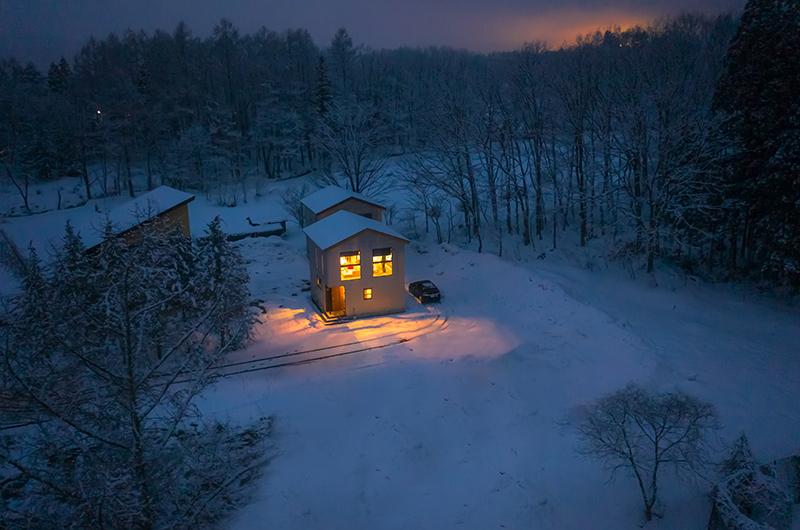 Mizuho Chalet Night View | Hakuba, Nagano