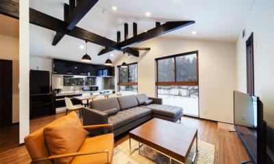 Mizuho Chalet Living Area | Hakuba, Nagano