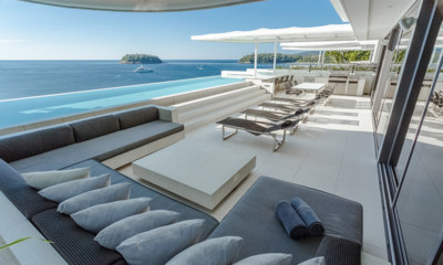 Kata Rocks Poolside Seating Area with Sea View | Kata, Phuket