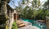 Adiwana Arkara Villas Infinity Pool with Sun Loungers   Ubud, Bali