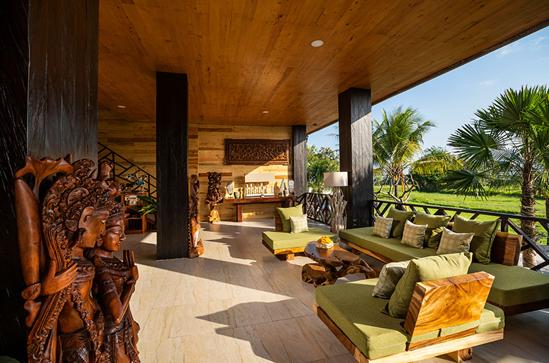 Adiwana Arkara Villas Sitting Area with Garden View   Ubud, Bali