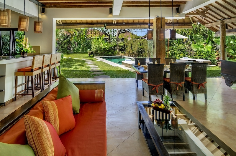 Hevea Villas Three Bedroom Villa Deluxe Seating | Seminyak, Bali