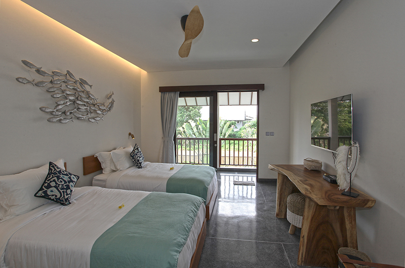 Villa Elite Mundano Twin Bedroom with TV | Canggu, Bali