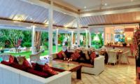 Villa Sipo Living Area with Garden View | Seminyak, Bali
