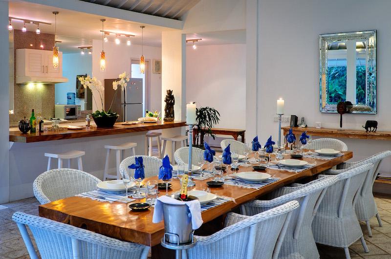 Villa Sipo Dining Area with Open Plan Kitchen | Seminyak, Bali