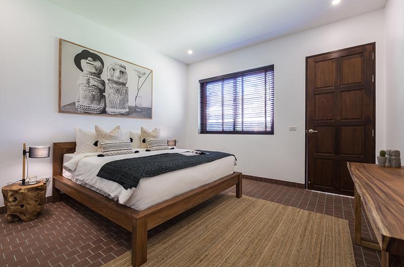 Lemongrass Residence Bedroom with Lamps | Bophut, Koh Samui
