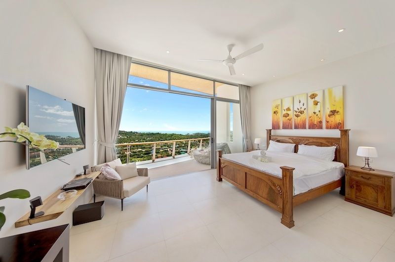 Villa Blue Ridge Bedroom with TV | Bophut, Koh Samui