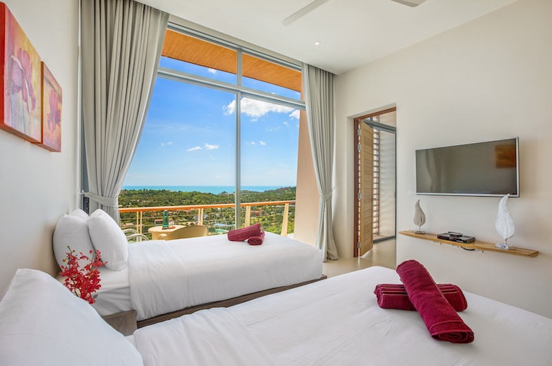 Villa Blue Ridge Twin Bedroom Area | Bophut, Koh Samui