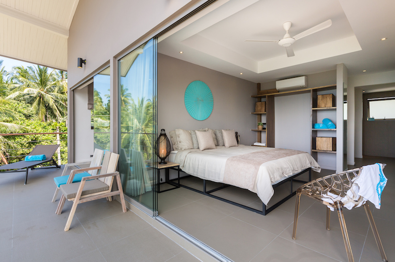 Villa Nuea Bedroom with Balcony | Chaweng, Koh Samui