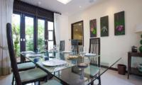Villa Chom Tawan Dining Area with Garden View | Layan, Phuket