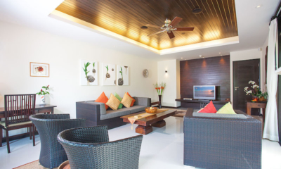 Villa Chom Tawan Living Area with TV | Layan, Phuket