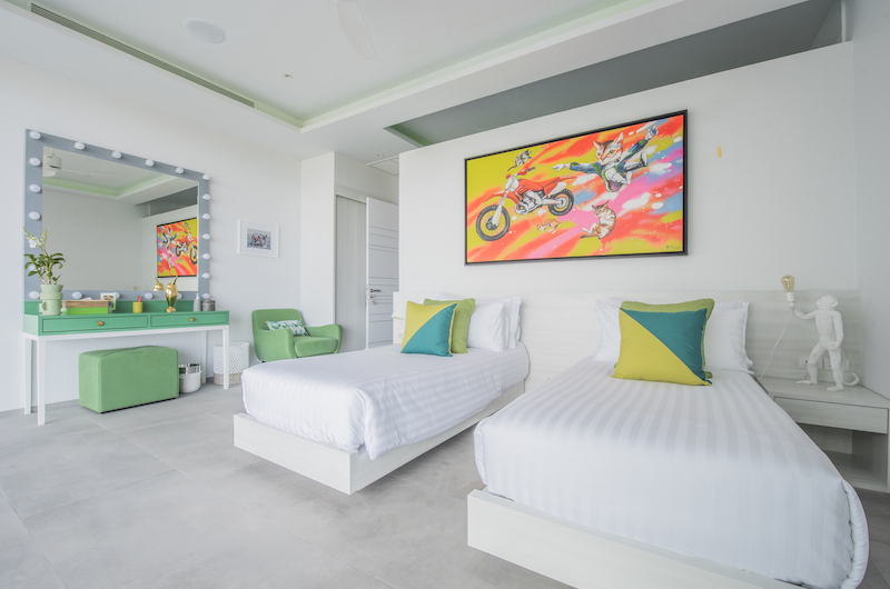 Villa Enjoy Green Suite Twin Bedroom with Lamps | Patong, Phuket