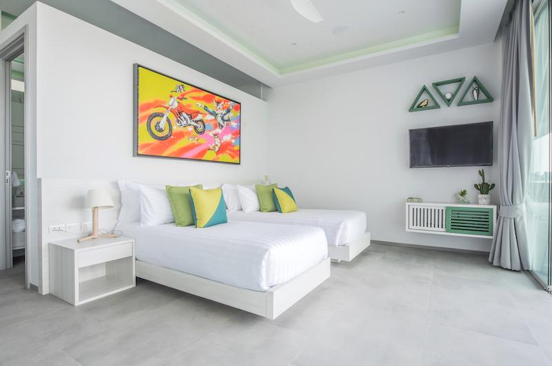 Villa Enjoy Green Suite Twin Bedroom with TV | Patong, Phuket