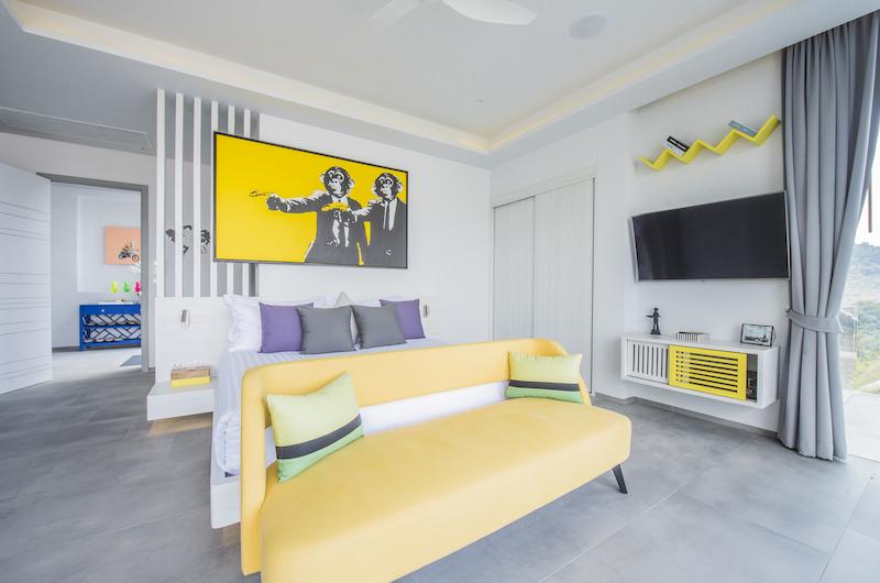 Villa Enjoy Yellow Suite Bedroom with TV | Patong, Phuket