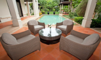 Villa Maan Tawan Sitting Area with Pool View | Layan, Phuket