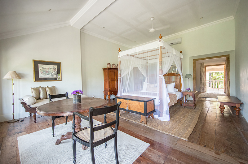 Rampart Street Bedroom with Canopy Bed and Coffee Table | Galle, Sri Lanka