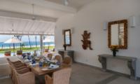 Villa Ahasa Indoor Dining Area with Pool View | Habaraduwa, Sri Lanka