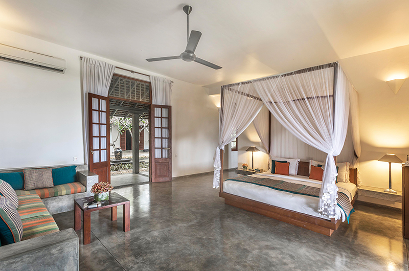 Villa Frangipani Tree Olive Ridley Beach Bedroom with Lamps | Talpe, Sri Lanka