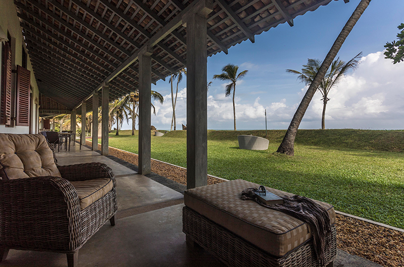 Villa Frangipani Tree Olive Ridley Beach Seating | Talpe, Sri Lanka