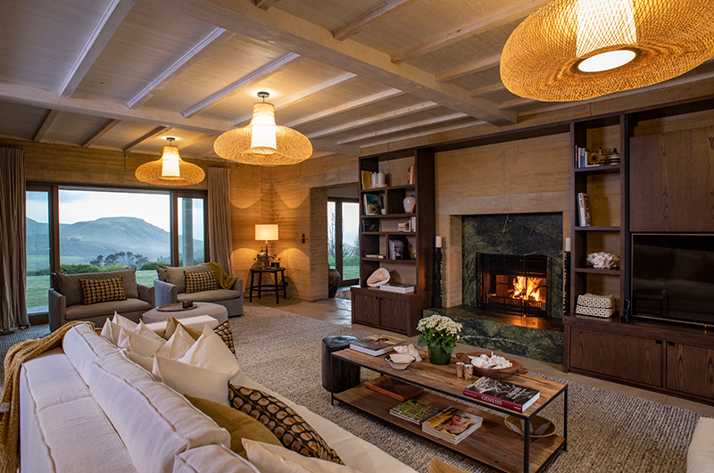 Muriwai Estate Living Room with Fire Place | Muriwai, Auckland