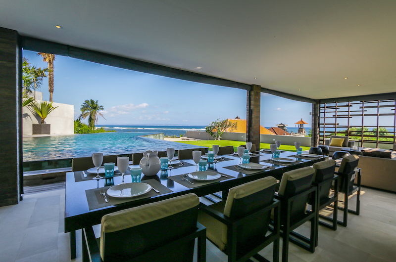The Beach Villa Cemagi Dining Area with Pool View | Seseh, Bali