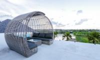 The Beach Villa Cemagi Outdoor Seating with Garden View   Seseh, Bali