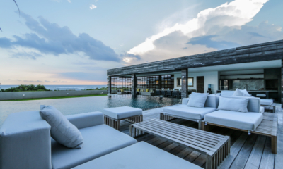The Beach Villa Cemagi Outdoor Seating Area with Swimming Pool and Sea View | Seseh, Bali