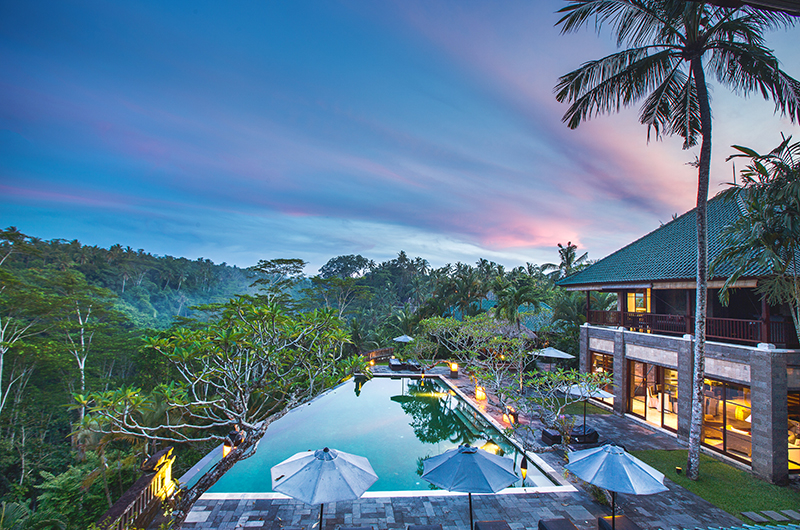Villa Bukit Naga Pool Area Aerial View | Gianyar, Bali