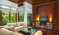 Villa Bukit Naga Living Area with Garden View l | Gianyar, Bali