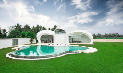 Villa Cloud Front View with Swimming Pool and Lawn | Tabanan, Bali