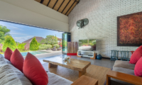 Villa Doretanh Living Area with Pool and Garden View | Ungasan, Bali