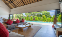 Villa Doretanh Living Area with Pool View | Ungasan, Bali