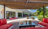Villa Doretanh Outdoor Seating Area with Pool View | Ungasan, Bali