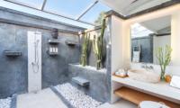 Villa Karein Outdoor Shower Area   Seseh, Bali